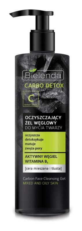 Bielenda Carbo Detox Active Carbon čisticí gel s aktivním uhlím pro mastnou a smíšenou pleť