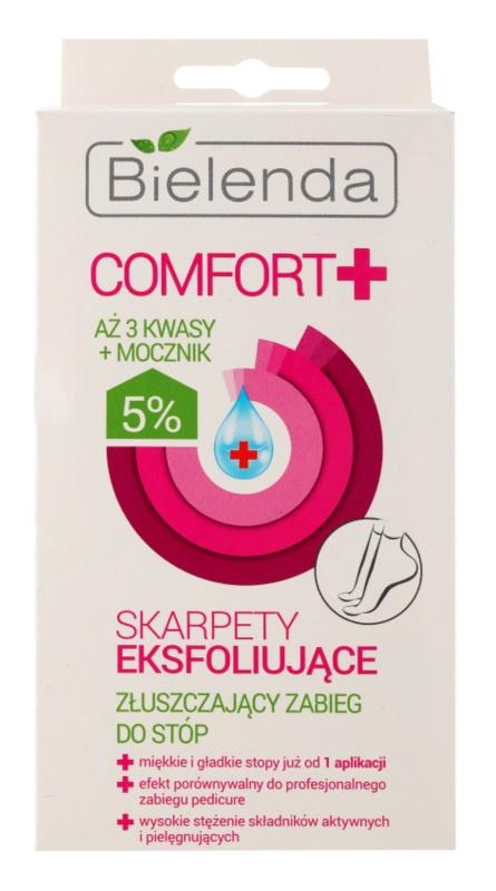 Bielenda Comfort+ feuchtigkeitsspendende Peeling-Socken für zartere Fußsohlen
