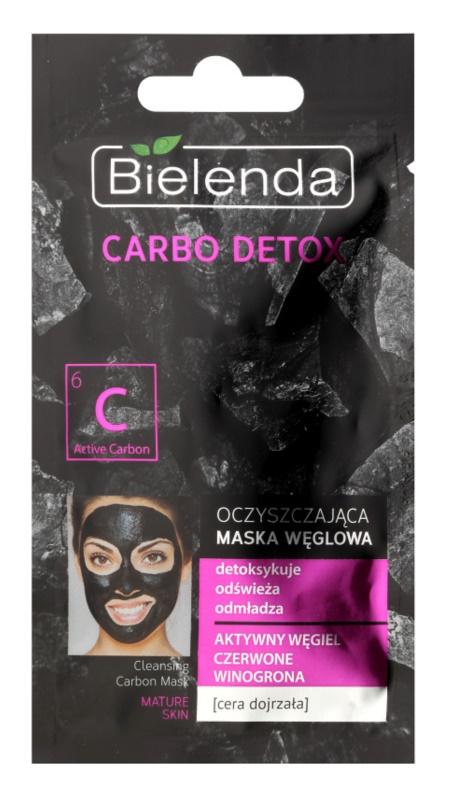 Bielenda Carbo Detox Active Carbon reinigende Maske mit Aktivkohle für reife Haut