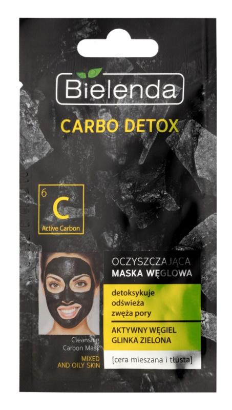 Bielenda Carbo Detox Active Carbon maska za čišćenje s aktivnim ugljenom za mješovitu i masnu kožu lica
