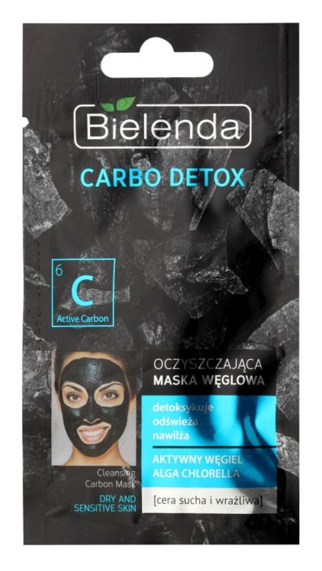 Bielenda Carbo Detox Active Carbon maska za čišćenje s aktivnim ugljenom za suho i osjetljivo lice