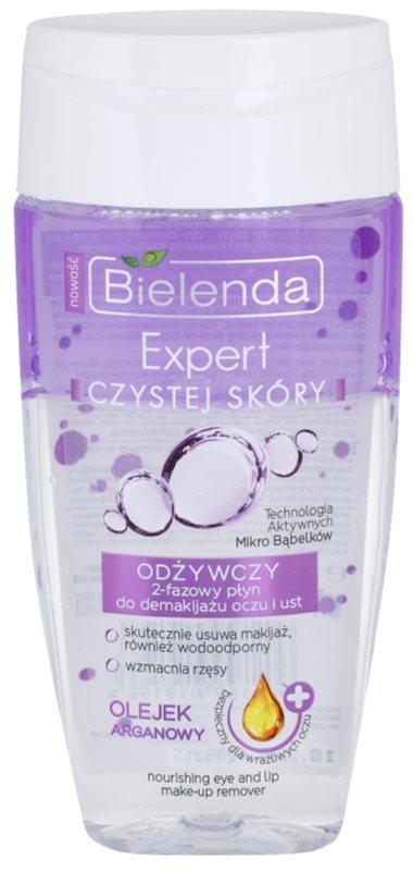 Bielenda Expert Pure Skin Nourishing démaquillant yeux et lèvres