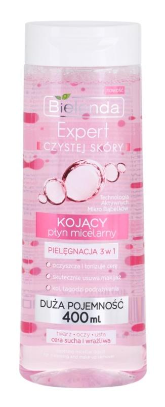 Bielenda Expert Pure Skin Soothing eau micellaire nettoyante 3 en 1