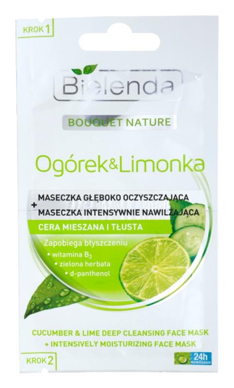 Bielenda Cucumber&Lime máscara de limpeza com efeito hidratante