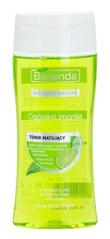 Bielenda Cucumber&Lime lotion tonique matifiante pour peaux grasses