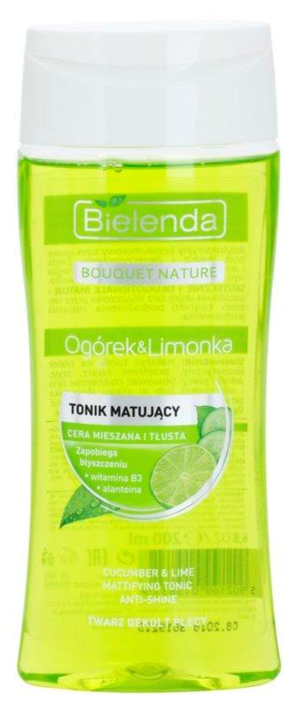 Bielenda Cucumber&Lime матуючий тонік для жирної шкіри