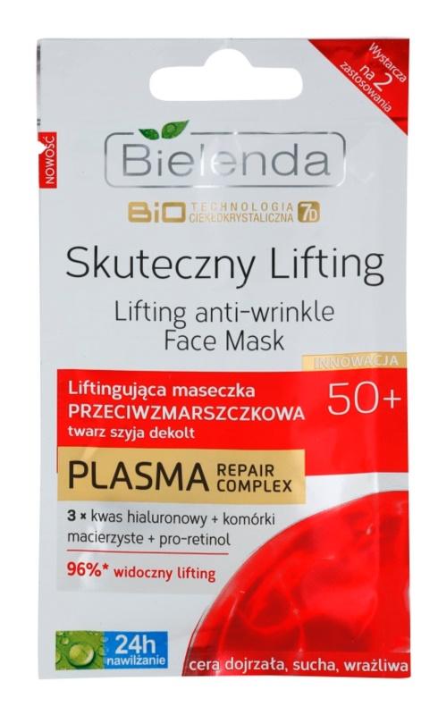 Bielenda BioTech 7D Effective Lifting 50+ maska za lifting i zatezanje za zrelu kožu lica