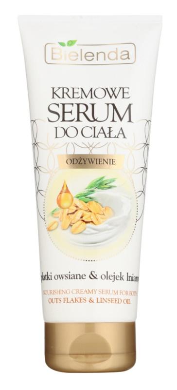 Bielenda Outs Flakes & Linseed Oil Creme-Serum für den Körper zum nähren und Feuchtigkeit spenden