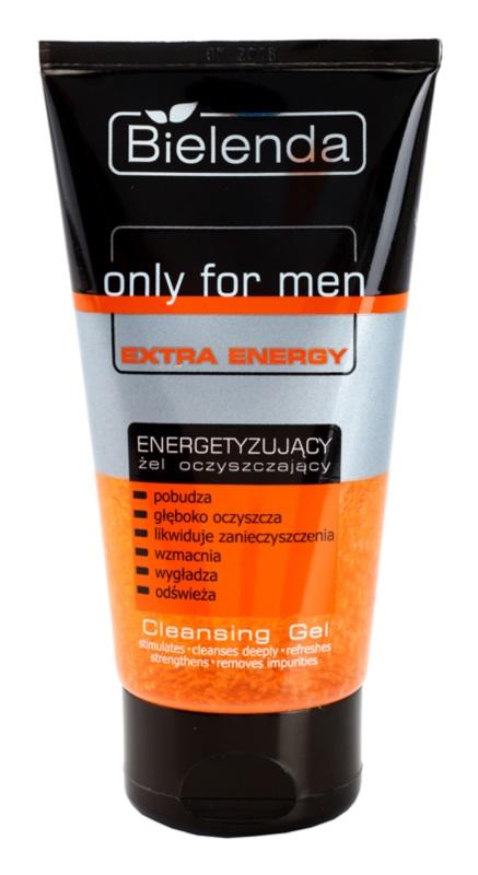 Bielenda Only for Men Extra Energy čistilni gel za obraz za utrujeno kožo