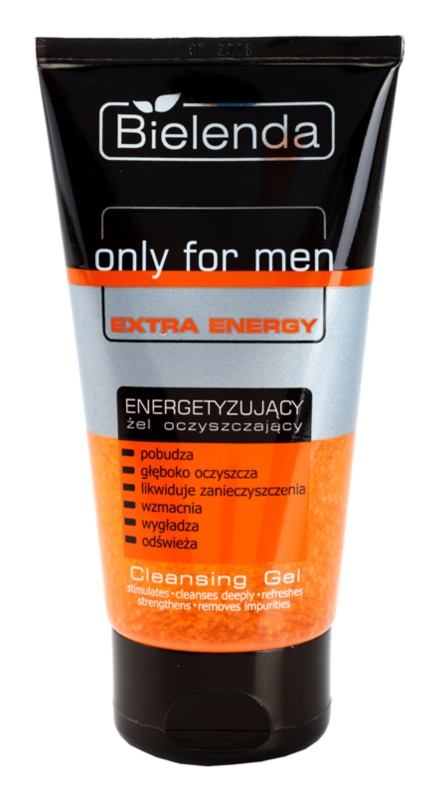 Bielenda Only for Men Extra Energy gel za čišćenje lica za umornu kožu lica