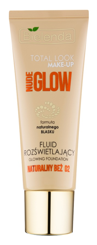 Bielenda Total Look Make-up Nude Glow aufhellendes Make up-Fluid