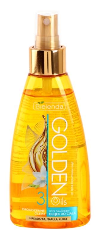 Bielenda Golden Oils Ultra Hydration spray cu ulei pentru corp cu efect de hidratare