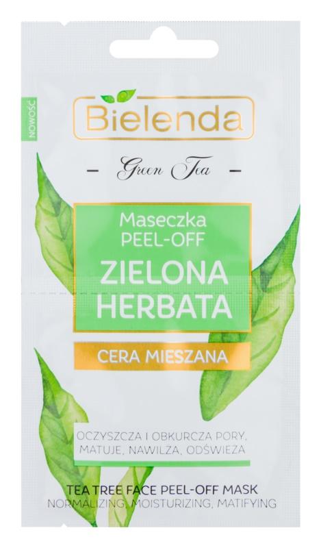Bielenda Green Tea maschera peel-off per pelli con imperfezioni