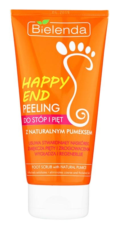 Bielenda Happy End esfoliante para pés e calcanhares com pedra-pomes natural