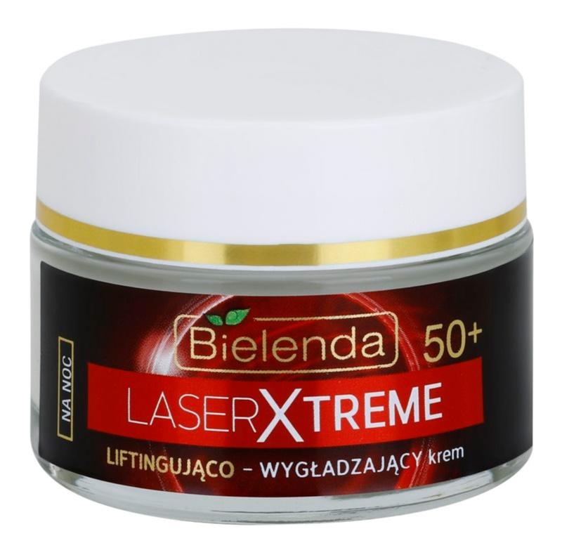 Bielenda Laser Xtreme 50+ crema de noapte care catifeleaza cu efect lifting