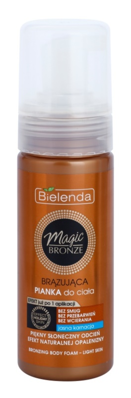 Bielenda Magic Bronze mousse de bronzeamento para peles claras