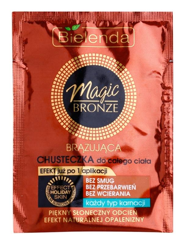 Bielenda Magic Bronze lingette auto-bronzante pour tous types de peau