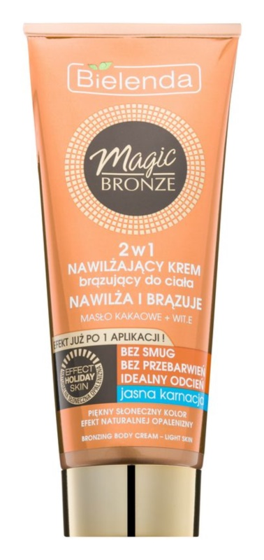 Bielenda Magic Bronze crema autoabbronzante per pelli chiare effetto idratante