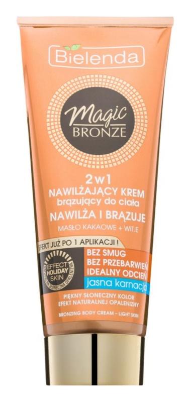 Bielenda Magic Bronze creme bronzeador para pele clara com efeito hidratante