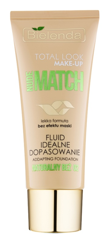 Bielenda Total Look Make-up Nude Match fluidni tekoči puder za poenotenje tona kože