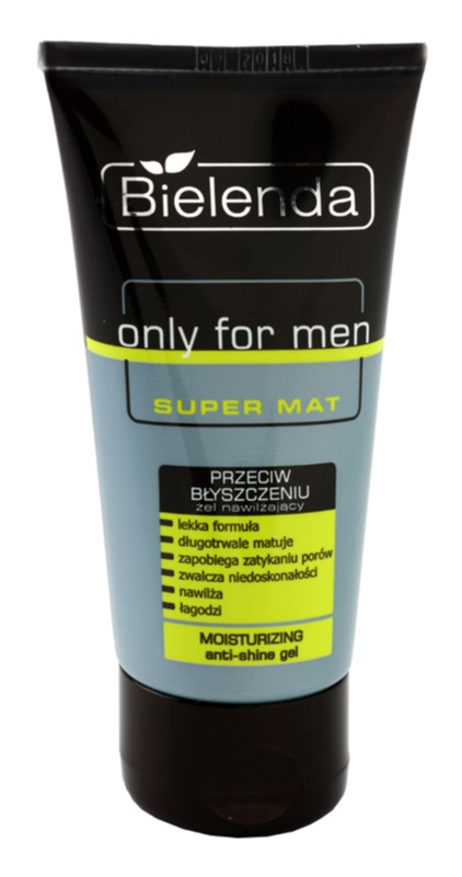Bielenda Only for Men Super Mat gel hidratante contra brilho de rosto i poro dilatados