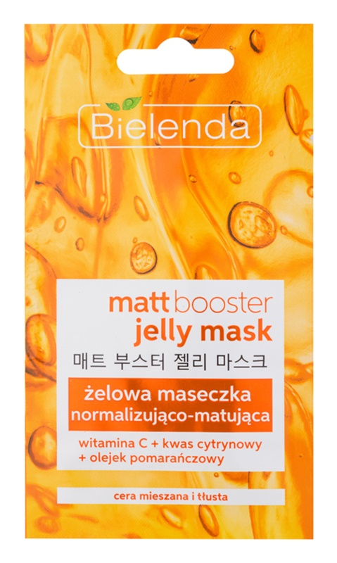 Bielenda Jelly Mask Matt Booster нормалізуюча матуюча маска для комбінованої та жирної шкіри