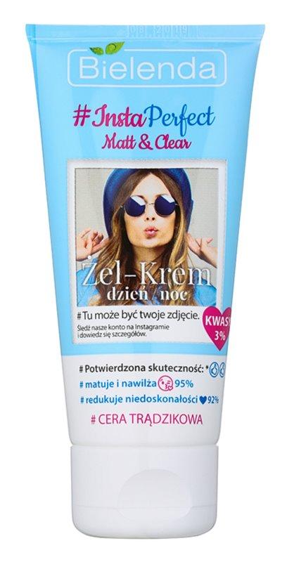 Bielenda #Insta Perfect Matt & Clear gel cremă de zi și noapte pentru pielea problematica