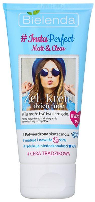Bielenda #Insta Perfect Matt & Clear gel krema za dan i noć za problematično lice