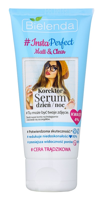 Bielenda #Insta Perfect Matt & Clear intensives Korrekturserum für Haut mit kleinen Makeln