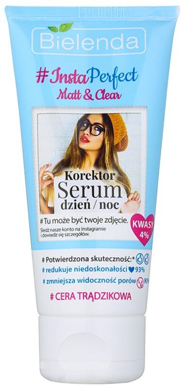 Bielenda #Insta Perfect Matt & Clear інтенсивна коректуююча сироватка для шкіри з недоліками