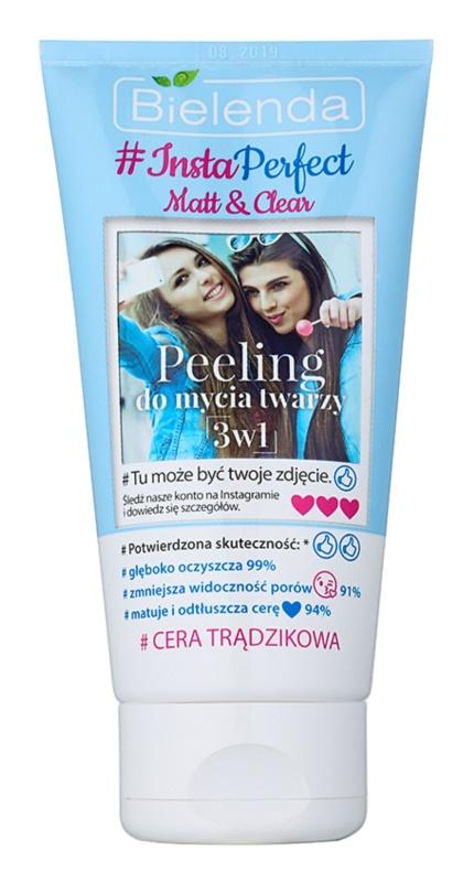 Bielenda #Insta Perfect Matt & Clear пілінг для обличчя 3 в 1 для проблемної шкіри