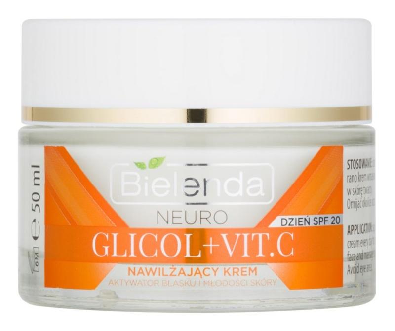 Bielenda Neuro Glicol + Vit. C crème hydratante SPF 20