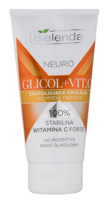 Bielenda Neuro Glicol + Vit. C exfoliante de limpeza para pele com imperfeições