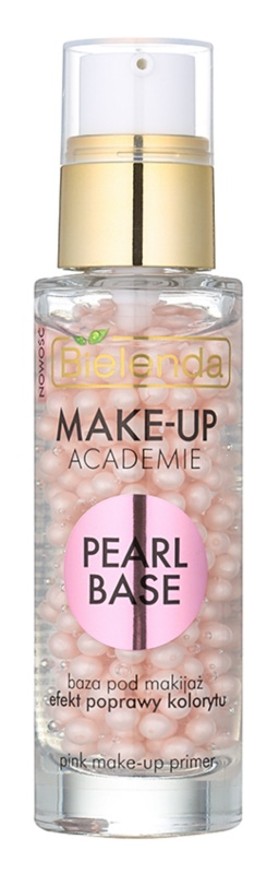 Bielenda Make-Up Academie Pearl Base rosa Make up-Basis für ein gesundes Aussehen