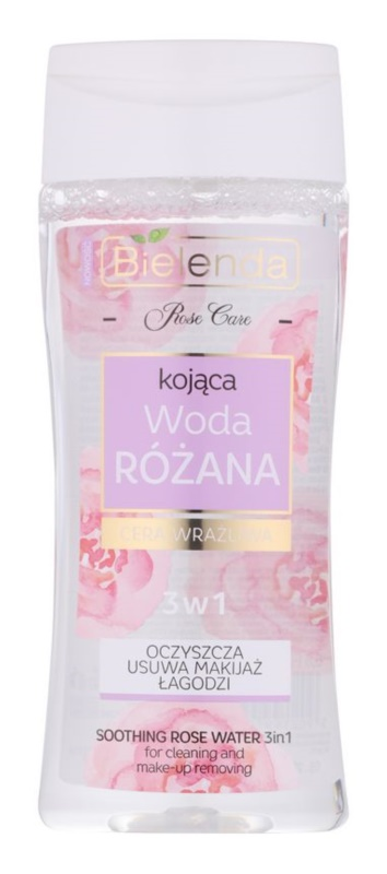 Bielenda Rose Care lotion nettoyante apaisante à la rose 3 en 1