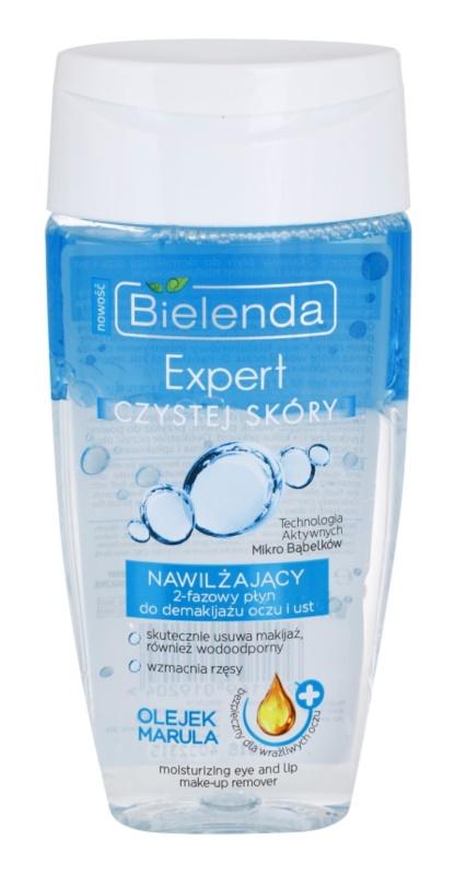 Bielenda Expert Pure Skin Moisturizing démaquillant bi-phasé contour des yeux et lèvres