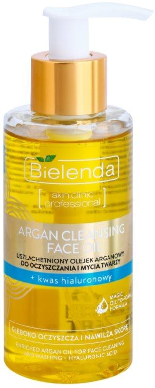Bielenda Skin Clinic Professional Moisturizing huile nettoyante à l'argan à l'acide hyaluronique