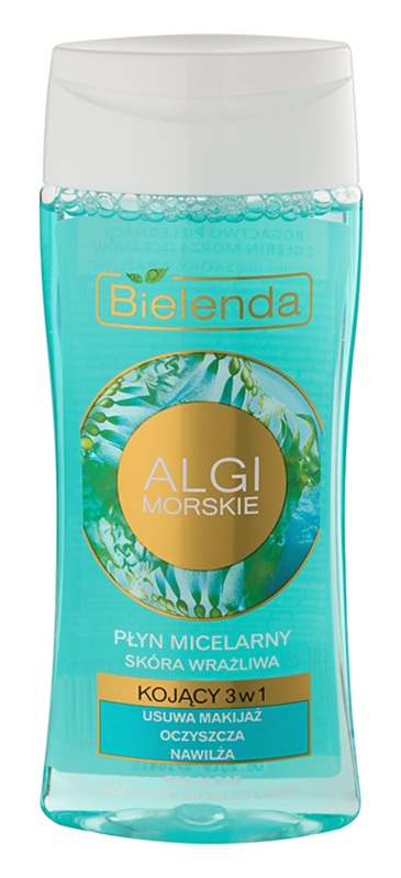 Bielenda Sea Algae Soothing acqua micellare struccante 3 in 1