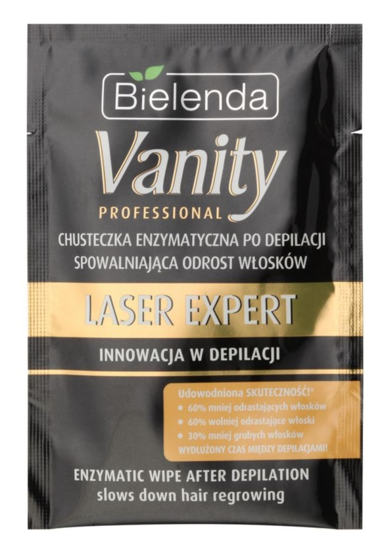 Bielenda Vanity Laser Expert Doekje met Enzymen voor Vertraging van Haargroei na Ontharing