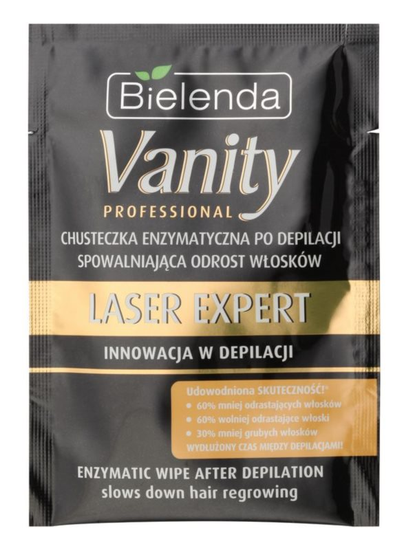 Bielenda Vanity Laser Expert Enzyme Wipes for Slowing Down Hair Growth after Depilation