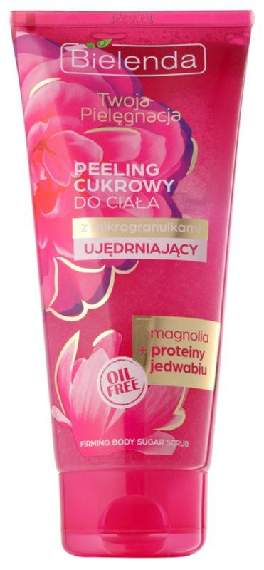 Bielenda Your Care Magnolia & Silk Protein cukrový peeling pro zpevnění pokožky