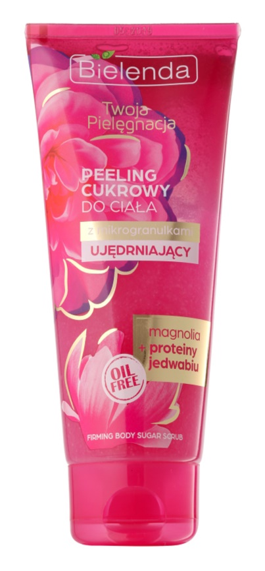 Bielenda Your Care Magnolia & Silk Protein exfoliant din zahar pentru fermitatea pielii
