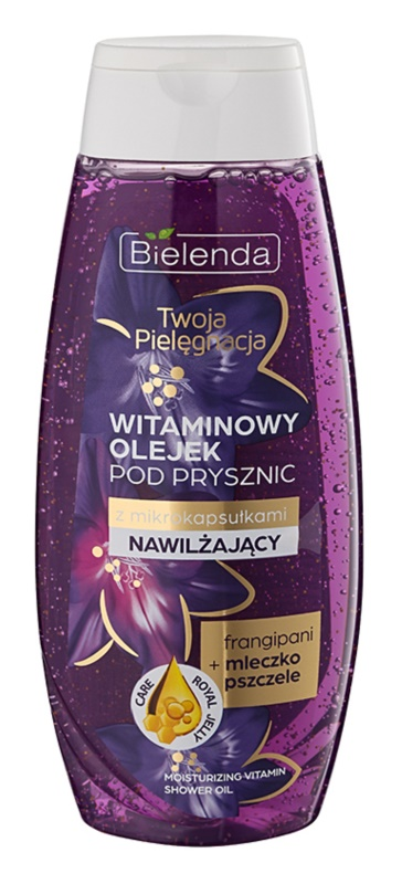 Bielenda Your Care Frangipani & Royal Jelly Moisturising and Refreshing Shower Oil With Vitamins