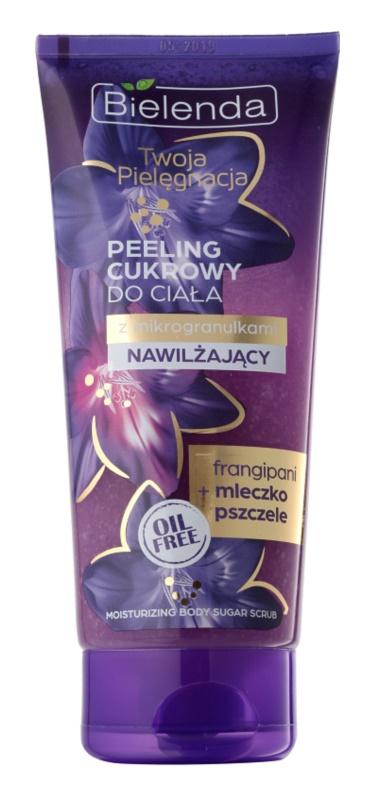 Bielenda Your Care Frangipani & Royal Jelly gommage corporel au sucre pour une peau hydratée et raffermie