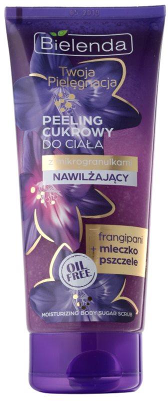 Bielenda Your Care Frangipani & Royal Jelly peeling corporal com açúcar para hidratação de pele e com efeito lifting