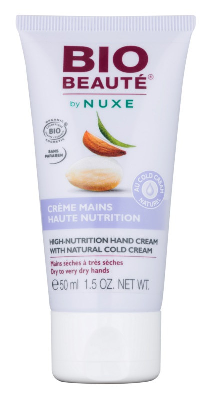 Bio Beauté by Nuxe High Nutrition krém na ruky s obsahom cold cream
