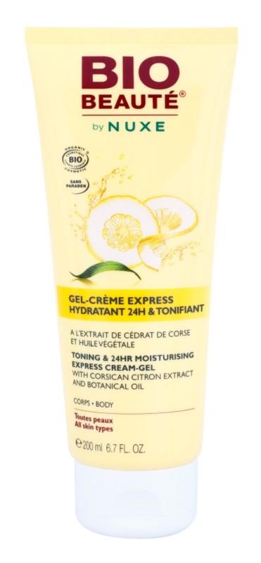 Bio Beauté by Nuxe Body tonisierende und hydratisierende Gelcreme mit Extrakten von korischer Zitrone und botanischem Öl