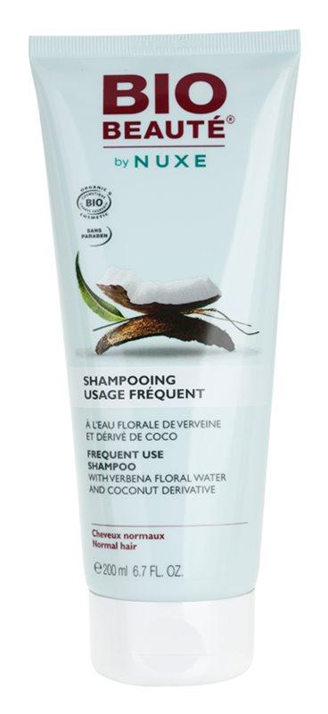 Bio Beauté by Nuxe Hair Shampoo für häufige Haarwäschen mit Blütenwasser aus Verebenen und Kokosnuss