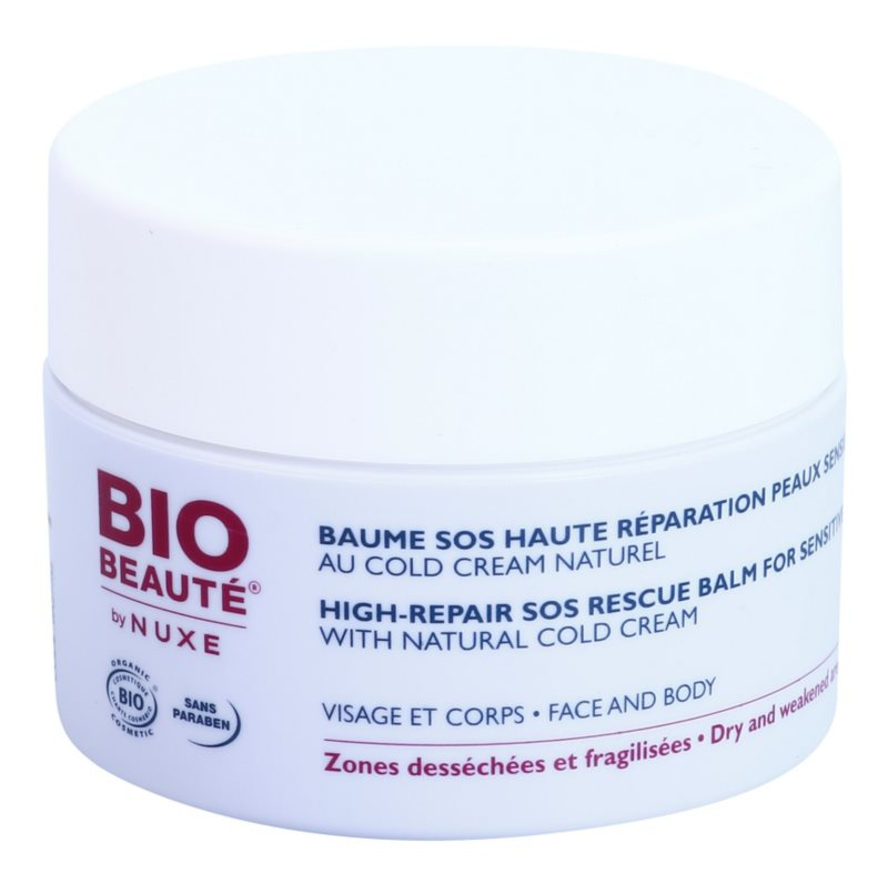 Bio Beauté by Nuxe High Nutrition SOS Balsam regenerator pentru piele sensibila contine emulsie Cold cream