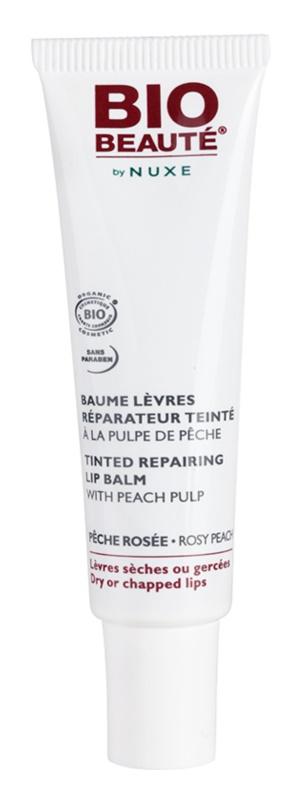 Bio Beauté by Nuxe Lips balsam regenerujący do ust z miąższem brzoskwini